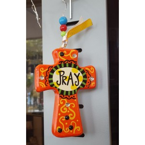 Kruis, hout Tekst 'Pray'