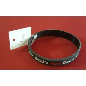 Armbandje Rubber  'God's not Dead'