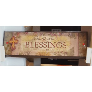 Wandbord  'Count your blessings'
