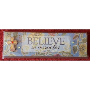 Wandbord  'Believe in Miracles'