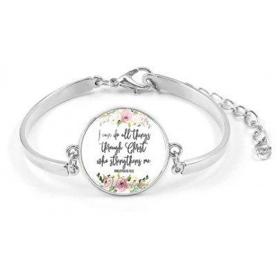"""Armbandje """"I can do all things through Christ who strengthens me"""""""