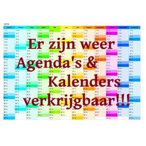 Er zijn weer agenda's en kalender verkrijgbaar